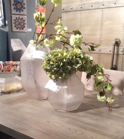 vases with greens